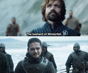 game of thrones, jon snow, and tyrion lannister image