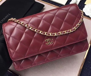 chanel, burgundy, and classic image