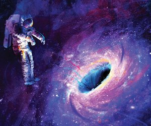 galaxy, space, and astronaut image