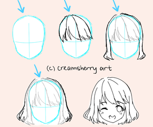 anime, tutorial, and hair image