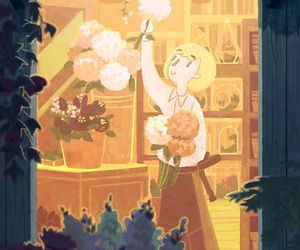 art, florist, and ivy image