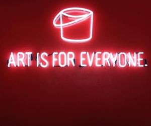 art, red, and light image