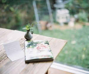 vintage, book, and garden image