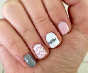 grey, mustache, and nail art image