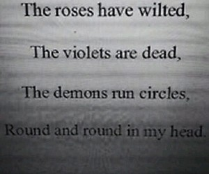 dark, depression, and quote image