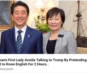 loool, anti trump, and japan's first lady image