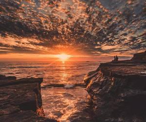 sunset and sea image