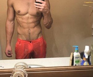 abs, blonde, and guy image