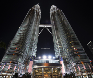 night, petronas twin towers, and places image