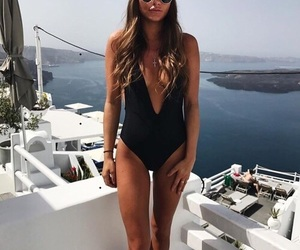 bathing suit, black, and view image