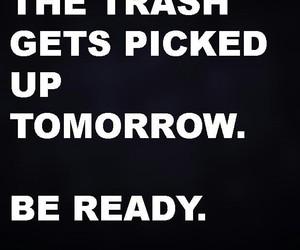 savage, trash, and warning image
