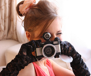 camera, girl, and glamour image