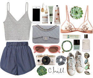 chanel, outfit, and Polyvore image
