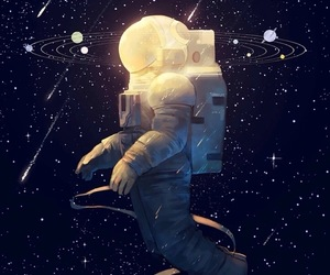 space, stars, and astronaut image