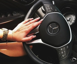 car, nails, and mercedes image