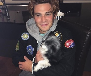 riverdale, kj apa, and dog image