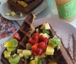 chocolate, fruit, and delicious image