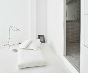 bed, minimalism, and bedroom image