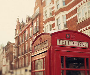 london, telephone, and england image