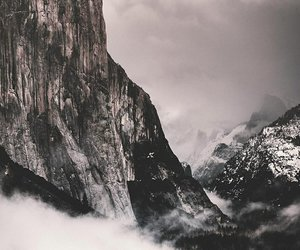 mountains, aesthetic, and dark image