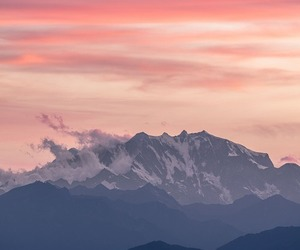 landscape, mountains, and pink image