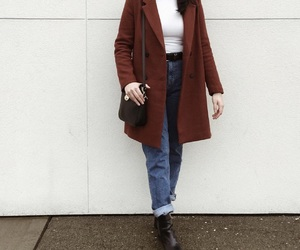 boots, coat, and fall image
