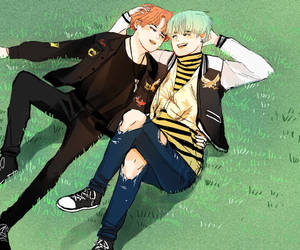 yoonmin, jimin, and suga image