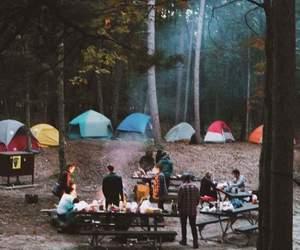 amizade, floresta, and barracas image