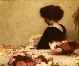 herbert james draper, roses, and art image
