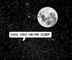wallpaper, moon, and cool kids image
