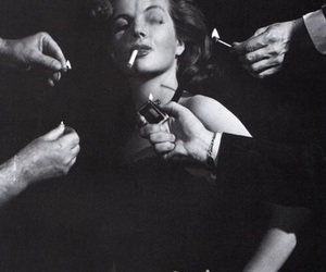 black and white, cigarette, and smoking image