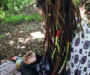 bohemian, dreadlocks, and dreads image
