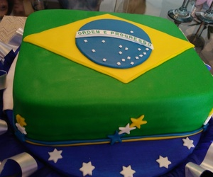 blue, brazil, and cake image