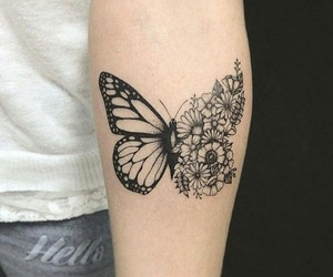 body art, butterfly, and ink image