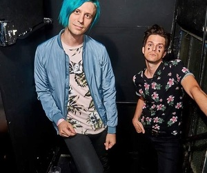 panic! at the disco, dallon weekes, and falling in reverse image