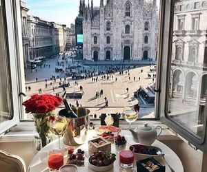 breakfast, coffee, and milan image