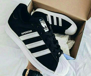 superstar, adidas, and black image