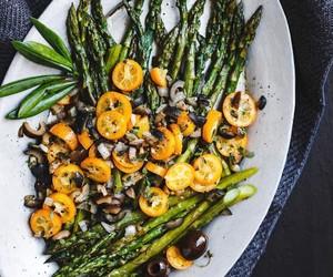 asparagus, citrus, and fruit image