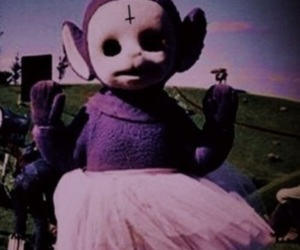 teletubbies, grunge, and purple image