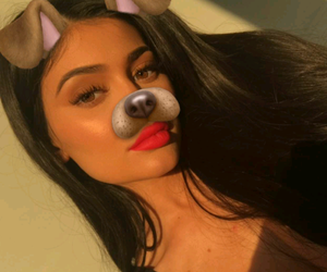 kylie jenner, snapchat, and makeup image