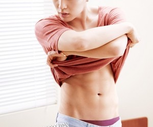 abs, boy, and yixing image