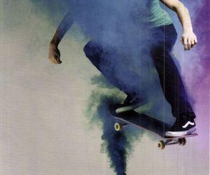 skate, boy, and smoke image