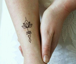 lotus, tattoo, and unalome image
