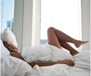 bedroom, city, and girl image