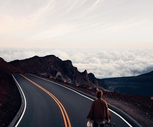 road, travel, and sky image