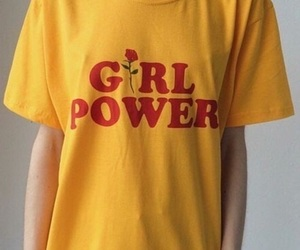 yellow, girl power, and aesthetic image