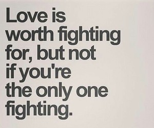love, fight, and worth image