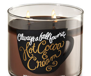 candle, cream, and hot coco image