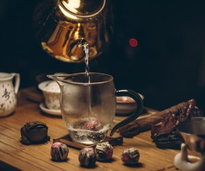 blur, teapot, and wood image