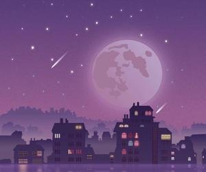 night, stars, and light image